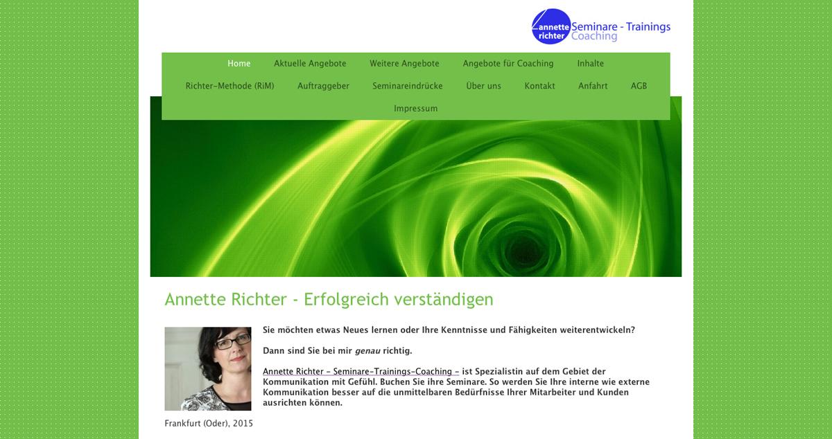 Webseite von Annette Richter.